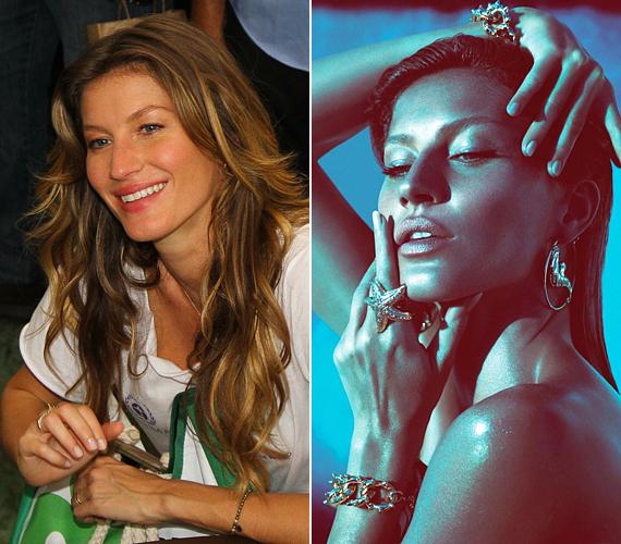 Ha nem ismernék annyira az emberek, a riói Green Nation Festen talán senki sem mondta volna meg Gisele Bündchenről, hogy valójában modell. Egy egészen más nő néz vissza a Versace kampányfotójáról.
