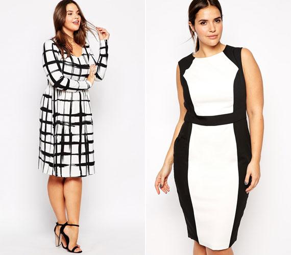 A fekete-fehér továbbra is divat, ezt sok tervező kihasználja az oprikailag karcsúsító ruhák megalkotásakor. A kockás is trend lesz, ha szereted, de nem akarod, hogy kövérítsen, akkor válassz elnagyolt mintát.