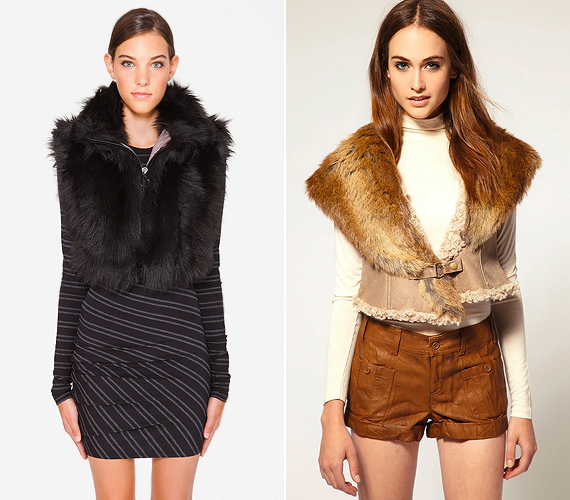 A retro glamúr irányzat és a bakancsos Americana trend sem mond nemet a derékhangsúlyozó rövid fazonokra, legyenek szőrösek vagy prémesek.