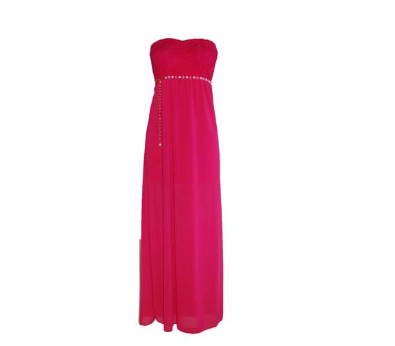 A hosszú ruha idén is nagy divat, a mell alatt szabott fazon nyújtja és karcsúsítja az alakot, és csak 3990 forintba kerül. Asia Center/MK Áruház.