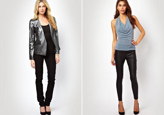 Ha ötvöznéd a visszafogottságot az ünnepi csillogással, válassz egy egyszerű fekete nadrágot vagy fekete leggingset, és vegyél fel hozzá egy ezüstös csillogású felsőt.