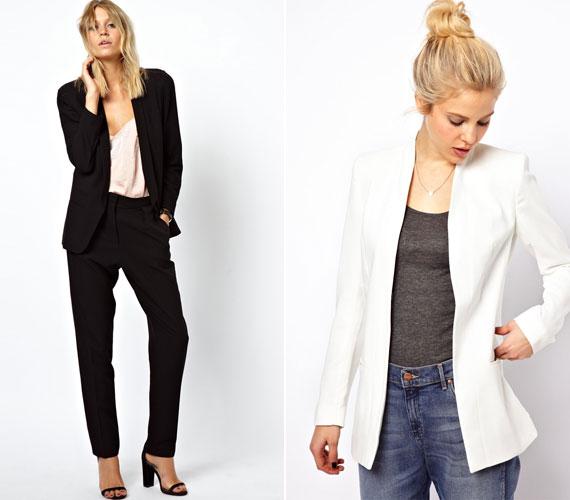 Egy blézer laza nadrággal tökéletes lehet, a kabátka akár a feneket is takarhatja.