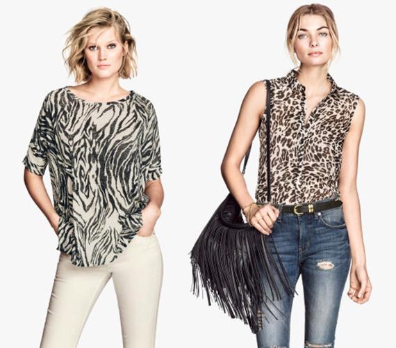 Az állatminták még mindig hódítanak, legyen az zebra- vagy akár leopárdminta. Igazán dögös és nőies lehetsz egy ilyen darabban például egy partin. De légy óvatos, és válassz ízlésesen, mert könnyen közönséges lehet az összhatás. A képen látható darabok tökéletesen mutatnak egy egyszerű szabású nadrággal és cipővel. A zebra- és a leopárdmintás blúz is 2990 forint a H&M-ben.