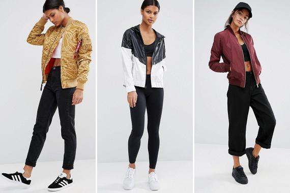 A laza, sportos dzsekik tekintetében főleg a színek jelentik az újdonságot. Jellemző lesz a sál alatt könnyen elrejthető, alacsony gallér, a mellzsebek hiánya és a könnyed, gyakran csillogó anyagok használata, mely utóbbi különösen nőiessé teszi a sportos megjelenést.