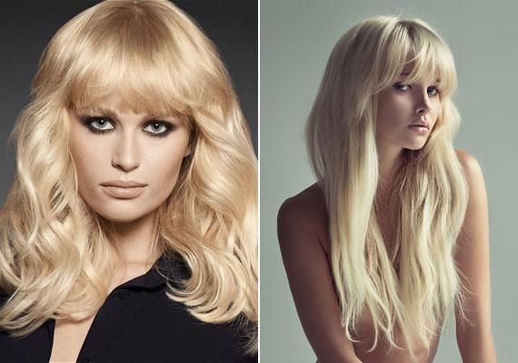 A Brigitte Bardot-t idéző platinaszőke frizura vonzza magára a tekintetet, és egy körkefén kívül más nem kell a kialakításához.
