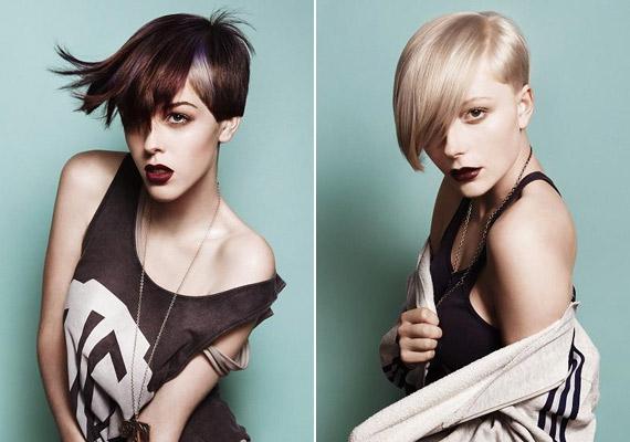 Vagány, fiús lányoknak remek az aszimmetrikus frizura, amely vékonyszálú hajból is remekül vágható.