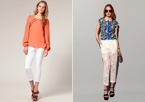 A fehér szín nagy szerepet kap a tavaszi-nyári divatban. Ha üde, romantikus szettre vágysz, a fehér csipkét semmiképp se hagyd ki az öltözékedből. Rendelj mellé pasztelles vagy élénkmintás blúzokat.