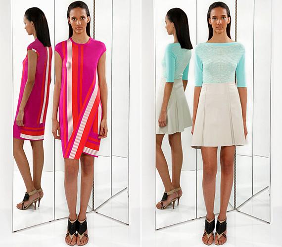 A hatvanas évek divatja 2013-ban is meghatározó, az egyszerű szabású miniruhákat a minta dobja fel, ahogyan az Ohne Titel darabjai is mutatják.