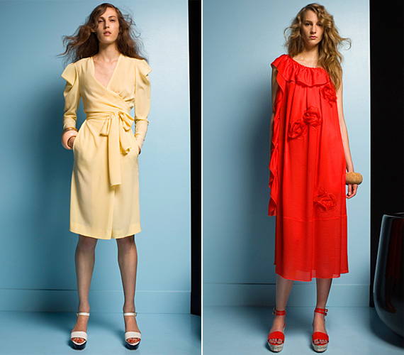 Sonia Rykiel laza, romantikus ruhákkal készült a tavaszra, melyek a melegebb napokon is a kényelmes viseletnek bizonyulnak majd.