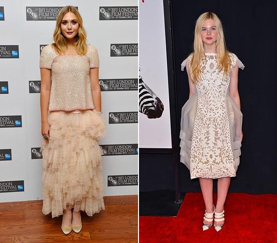 A Chanel fodros couture ruhája és Louis Vuitton csipkés-tüllös darabja egyaránt különlegesnek mondható, ám Elizabeth Olsenen és Elle Fanningon valahogy nem az igaziak.
