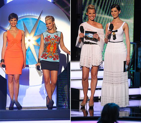 A második adás alkalmával élénk színű Givenchy és Blumarine-ruhákban mutatkoztak a CSISZ háziasszonyai, a negyedik élő műsorban pedig tengerparti hangulatot varázsoltak a színpadra a hófehér, könnyed Blumarine-kreációkkal.