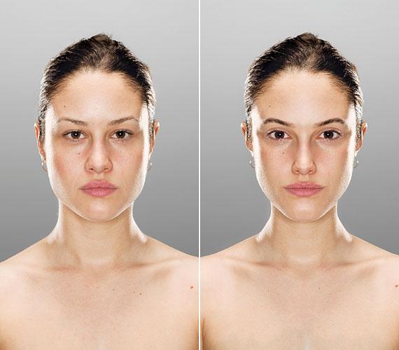 A nők szinte egytől egyig a vékonyabb arcot látták szebbnek.