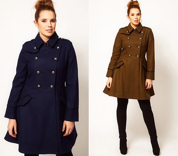 Bár főként a maszkulin trendek kedvencei a military stílusú kabátok, egyes darabokkal nőiesebbé varázsolhatod az alakodat. A V-alakban szabott derékrész megnyújtja a felsőtestet és keskenyíti a derékbőséget.