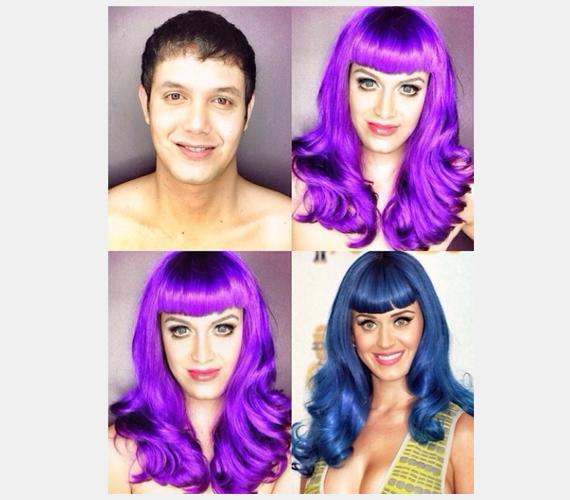 Katy Perry megelevenítése szintén jól sikerült, aligha mondanánk meg, hogy a paróka és a smink egy férfit rejt.