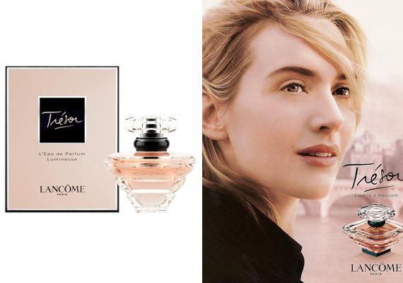 Kate Winslet tipikusan azokat a hölgyeket képviseli, akik büszkék telt alakjukra. Ő maga a vagány nő és az érzéki feleség keveredése, ami a Trésor parfümöt is meghatározza. Ha szeretnéd az illatot, itt rendelheted meg.