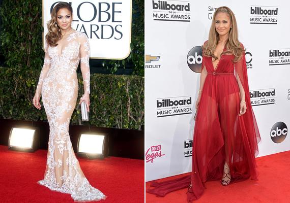 Jennifer Lopez a tökéletes példa arra, hogy 40 felett sem kell egy nőt temetni. Aki odafigyel az alakjára, az bátran viselhet olyan ruhákat, mint az énekesnő tette 2014-ben.