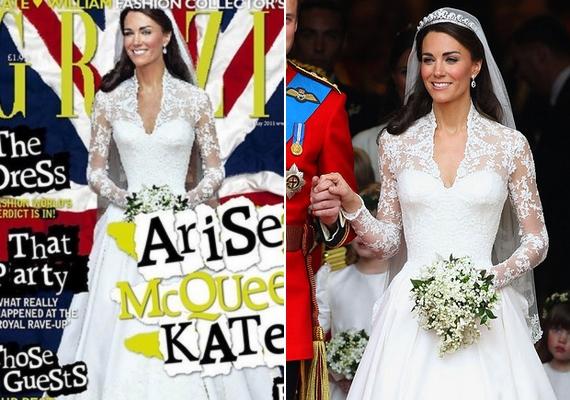 Katalin hercegnő Photoshop nélkül is nádszálvékony, rejtély, hogy miért nyúltak hozzá az esküvői képéhez, az pedig még nagyobb talány, hogy nem vették észre, mennyire rosszul sikerült a manipuláció.