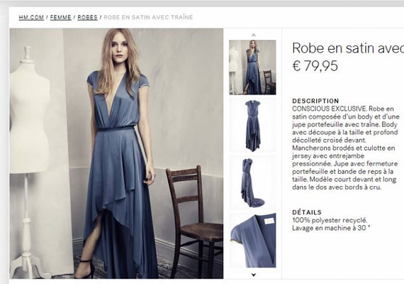 Lágy esésű, csodaszép ruha, még akkor is, ha a modellnek csak egy lába van, szegénynek.