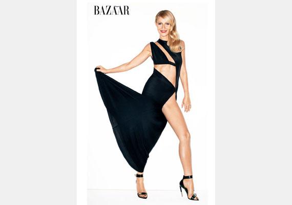 Biztos, hogy Gwyneth Paltrow rugalmas, de ilyen szögben legfeljebb egy műanyag baba tudja csavarni a lábát. Arról nem beszélve, hogy takart combja mintha a másik lábából nőne ki.