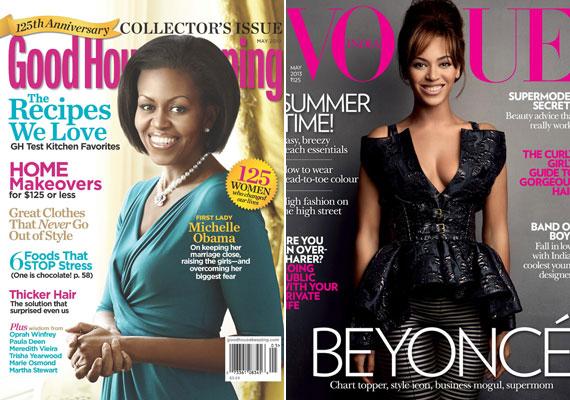 Michelle Obama helyett egy gumibaba szerepel a Good Housekeeping borítóján. Beyonce jól néz ki, de ő is kicsit szoborszerű.