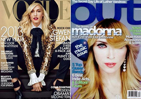 És a végére két valódi katasztrófa, valószínűleg Gwen Stefani és Madonna sem volt boldog, amikor meglátták magukat az újságosnál. A kérdés: ezekre nem néztek rá nyomdába kerülés előtt?