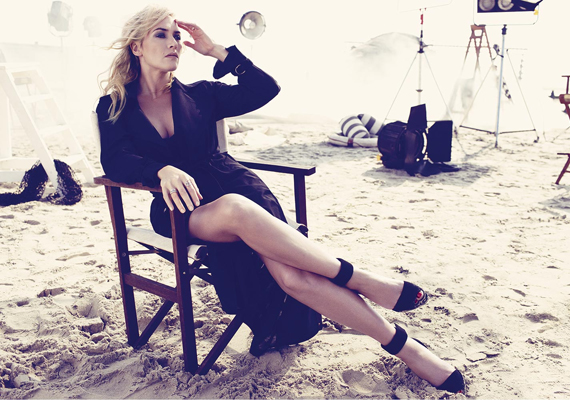 Kate Winsletet a Harper's Bazaar UK márciusi számához fotózták, látszólag a színésznőn egy deka felesleg sincs, és vonásai is kimunkáltak, pedig tudjuk, hogy ez nem a valós kép.