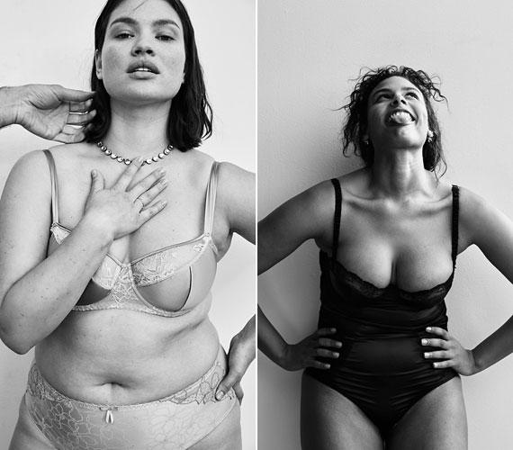 A modellek felszabadultan pózolnak, bohóckodnak, láthatóan nem feszélyezi őket a sminkmentesség.