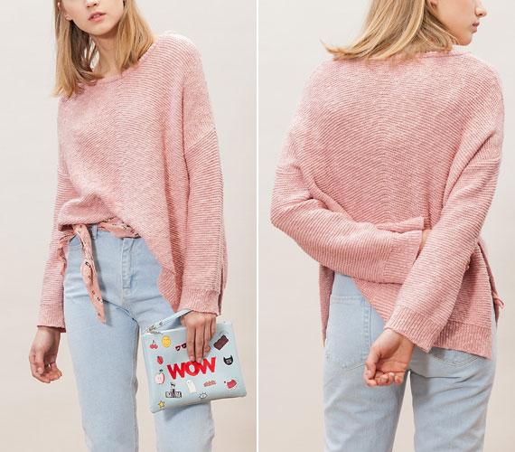 A pasztellszínek, különösen a rózsaszín idén nagyon divatos. A Stradivarius 7995 forintért kínálja ezt a laza, mégis nőies pulóvert.