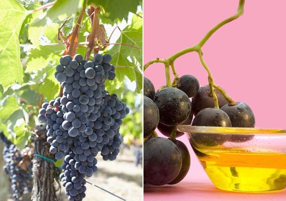 A szőlőmagolaj kitűnő feszesítő, mert serkenti a kollagéntermelést, éjszakára szemráncok ellen remekül beválik.