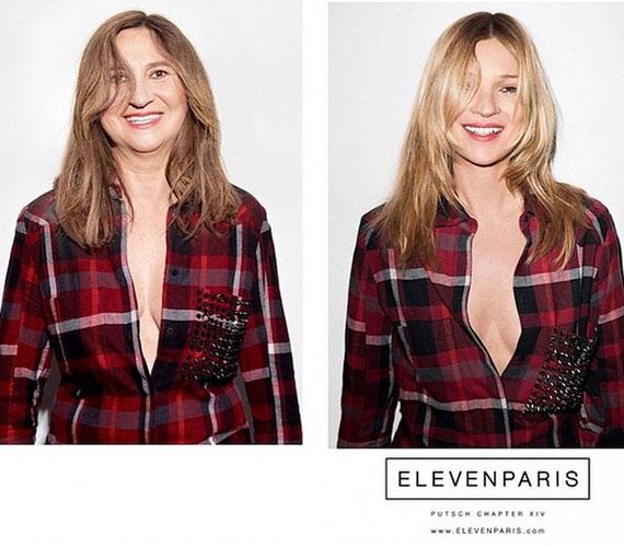 Kate Mosson egészen természetesen hat a szinte köldökig tartó dekoltázs, az újságírónőn azonban nem, és nem is jutna eszébe senkinek így viselni ezt a kockás inget.