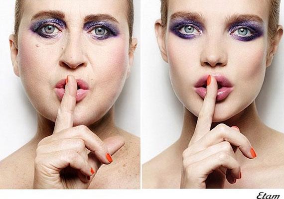 A lila smink Natalia Vodianovának azért jobban áll.