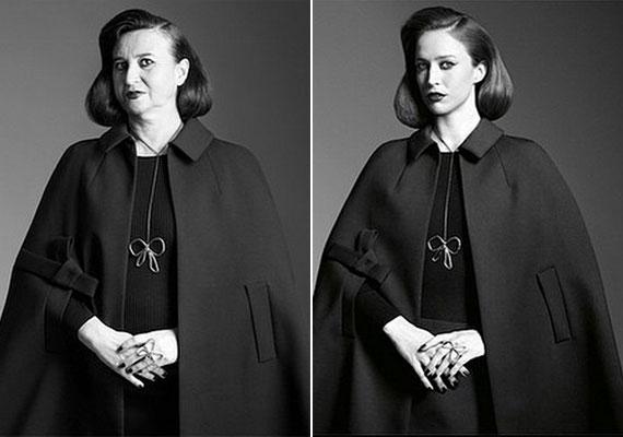 Végül egy kép, ahol szerintünk Natalie jobb, mint a modell, mert a beállítás, a ruha, a hangulat egy idősebb nőhöz sokkal inkább passzol. Innen is lászik, hogy vannak kampányok, ahol nyugodtan lehetne a hamvas modellek helyett másokat is használni.