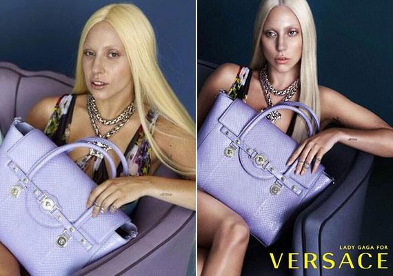 Lady Gaga Versace-kampányáról egy Twitter-felhasználó tette fel az utómunkálat előtti képeket. A két fotó közötti különbség zavarba ejtő, köszönhetően annak is, hogy az énekesnő nem viselt sminket.