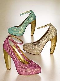 Rattan cipők