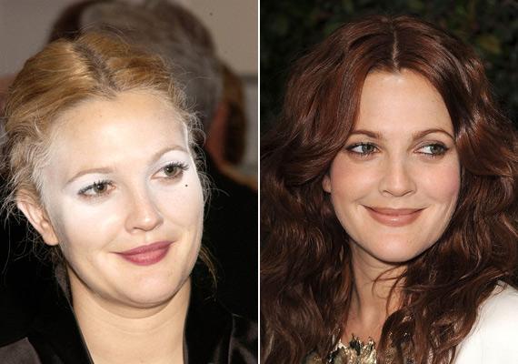 A fényvisszaverő púder legnagyobb áldozata Drew Barrymore. Annak idején a Charlie angyalai londoni bemutatóján küldte így emberek közé a sminkese.