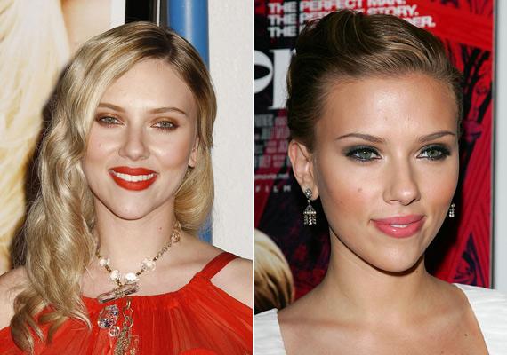 Scarlett Johansson szépségéhez nem fér kétség, de jobb lett volna, ha sminkese az arcához és színeihez jobban illő árnyalatokat választ, ezek a narancssárgás reflexek nagyon sápasztják a színésznőt.