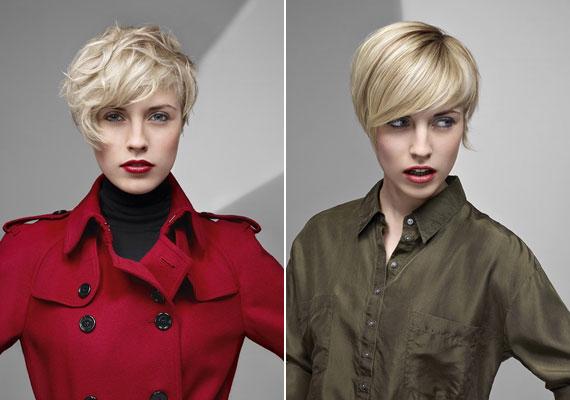 A szőke a rövid hajat is szexisebbé teszi, ráadásul a hideg színhez jól passzolnak az őszi sminktrend sötétebb, karakteresebb tónusai.