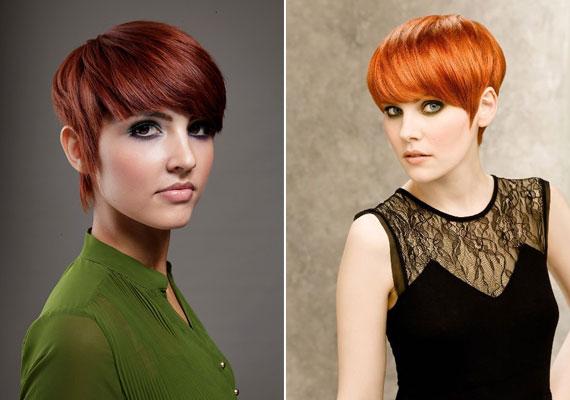 A vörös kétségtelenül az ősz színe - vibráló árnyalataival a rövid frizura is szenvedélyes és szexis lesz.