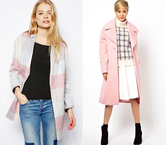 A rózsaszín kabát necces kérdés, mert túl kislányos lehet, ezért érdemes sötétebb színekkel kombinálni - barnával, szürkével, ha pedig a fekete mellett döntesz, azt lágyítsa még valami.