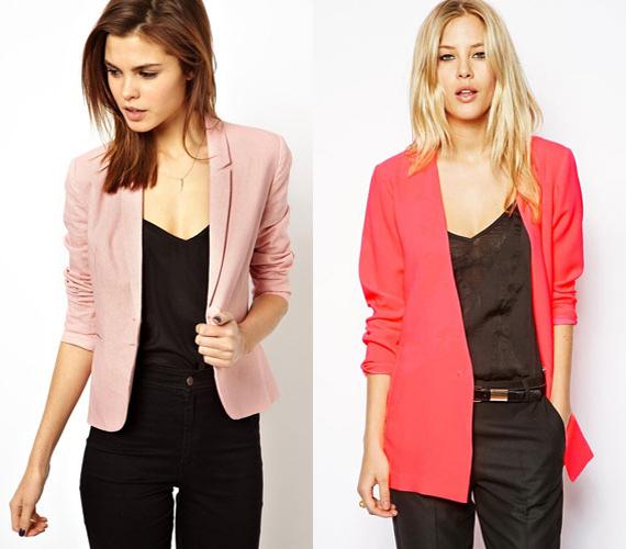 A blézer a felnőttek ruhadarabja, de ha rózsaszín, akkor játékosabb. Ráadásul ez a szín a most oly divatos férfiasabb szabású darabot is lágyítja.