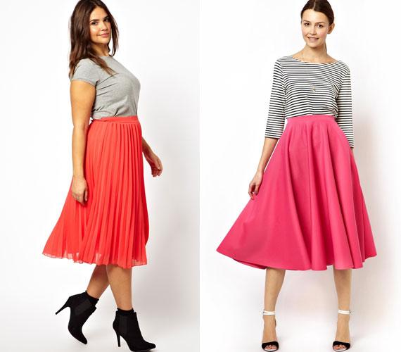 Egy magas derekú, A-vonalú szoknyánál nehéz nőiesebb ruhadarabot találni. Minden alakra tökéletes.