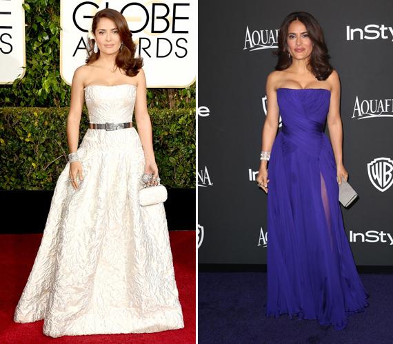A 2015-ös Golden Globe-díjátadón ezeket a ruhákat viselte, mindkettő kiemeli a karcsú derekát.A színésznő szeret jógázni, ezzel a mozgásformával is lehet vékonyodni. Létezik egy hasbeszívó gyakorlat, melynek a lényege, hogy belélegzed lassan a levegőt, majd kifújod, miközben behúzod a hasadat. Ezt a pózt 20 másodpercig kell kitartani.