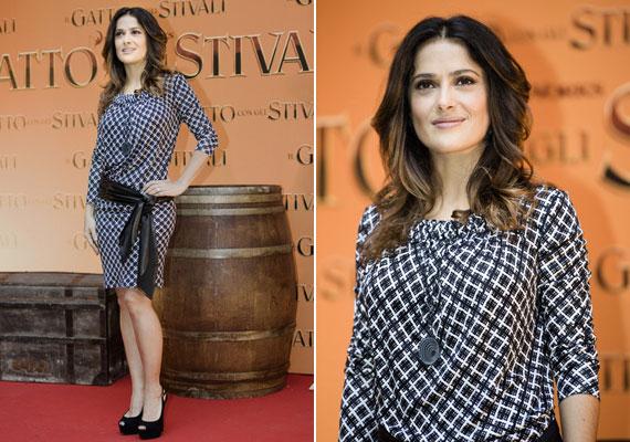 A Balenciaga kissé lazább ruhájának is egy derékra kötött öv ad formát.