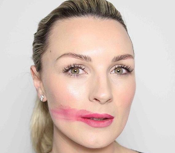 Nicola Haste divat- és szépségblogger szintén maszatolt.