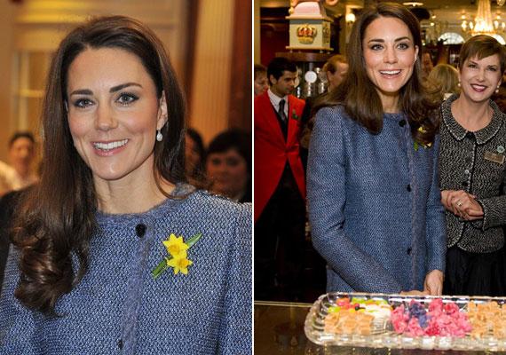 Kate Middleton sminkje mindig visszafogott, egyszersmind tökéletes: a fekete szemceruzán, a barackszínű arcpíron és egy kevés áttetsző szájfényen kívül ne is használj mást.