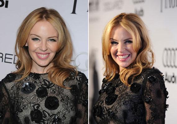 Ha a rendezvény kevésbé formális, egy halványkék szemceruza és egy rózsaszín szájfény kombinációjával is megpróbálkozhatsz, mint Kylie Minogue.