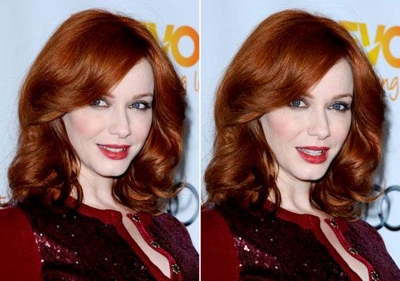 Ha a hajad vörös, hagyd érvényesülni: egy jó minőségű alapozóval, egy barna szemceruzával és egy narancsos színű rúzzsal a sminked visszafogott, mégis különleges lesz - mint Christina Hendricksé.