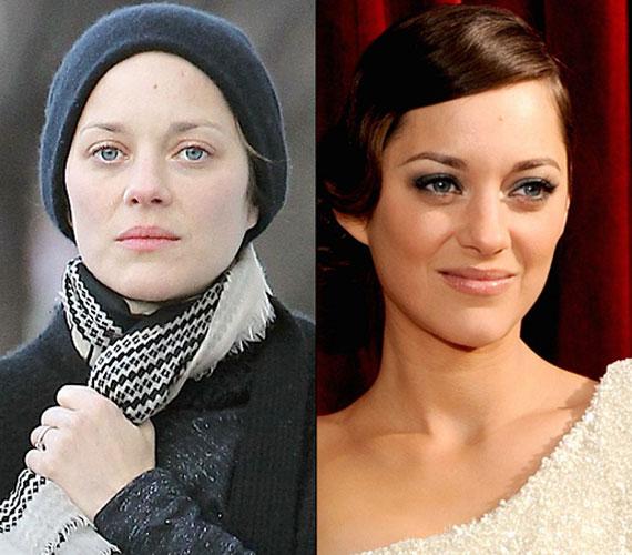 Marion Cotillard kék szemei akkor is érvényesülnek, ha nincs kifestve a francia díva.