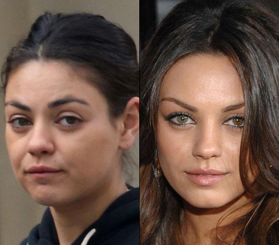 A világ egyik legjobb nőjének tartott Mila Kunis mellett bizony lehet, hogy elsétálnánk az utcán, neki kifejezetten jót tesz a smink, ha kiemelik zöldes szemeit.
