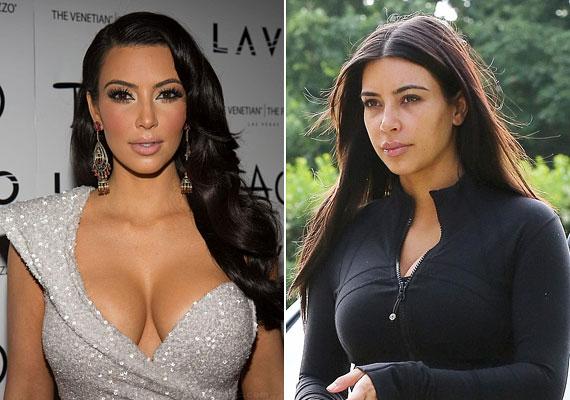 Kim Kardashian mindent megtesz annak érdekében, hogy a bőre szuperfeszes legyen, például nem mosolyog. Kontúrozási technikájáért mindenki odavan, de a sminkje már szinte maszkszerű. Üdítő néha nélküle látni.